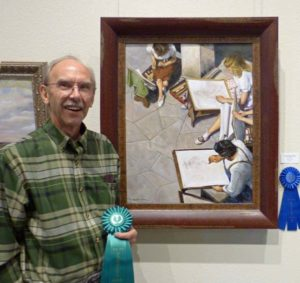 Drawing Class - FAA Members Show 2018 - First Place 2-D Art and People's Choice