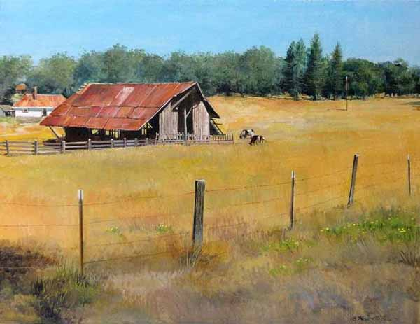 "Cattle Barn - 14"" x 18"""